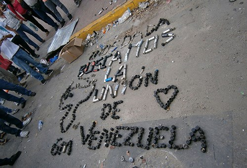 Venezuela protestors call for peace