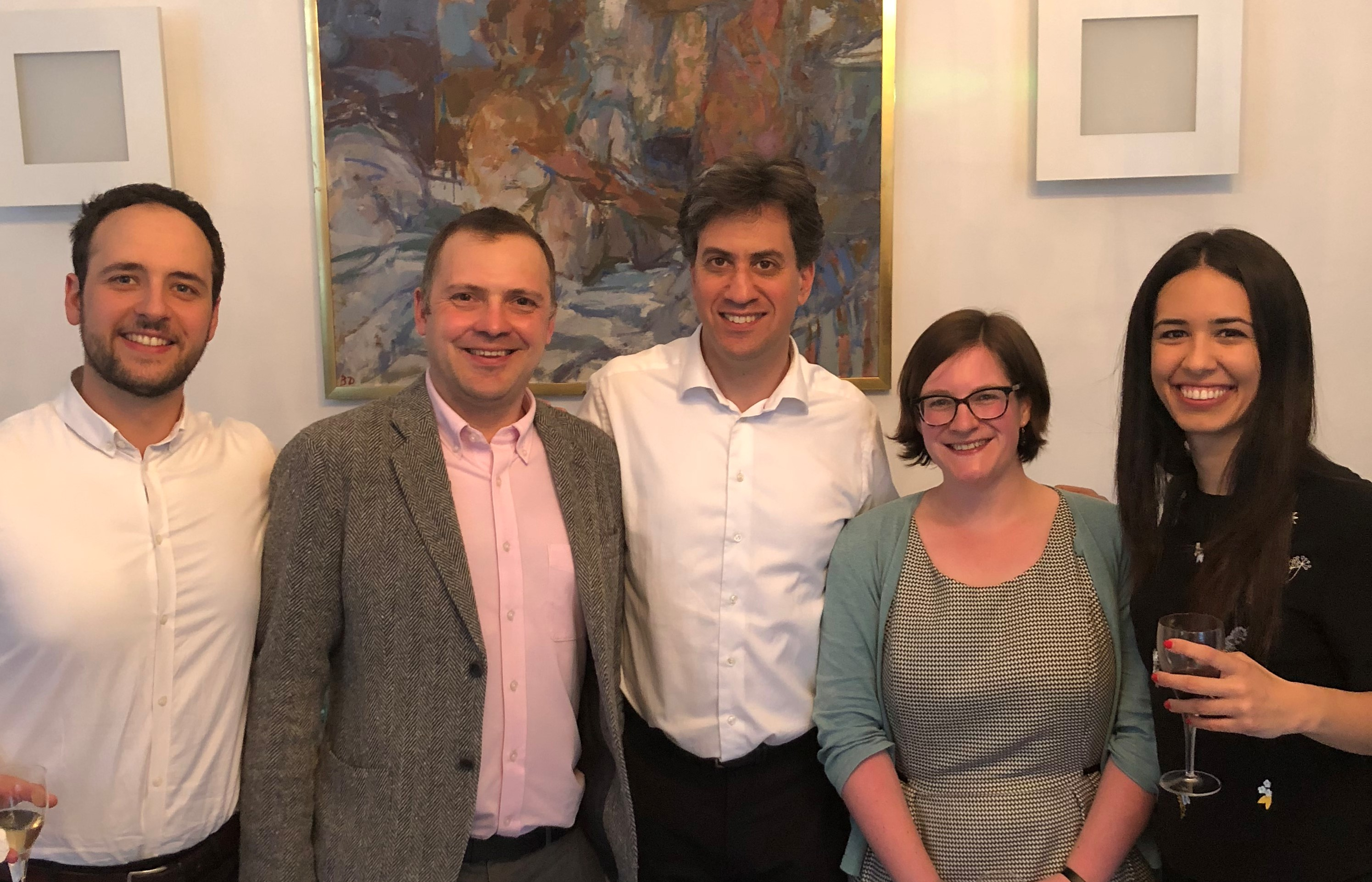 Members of the WEALTHPOL team and Ed Miliband at the Wealth Inequality Workshop in April 2018