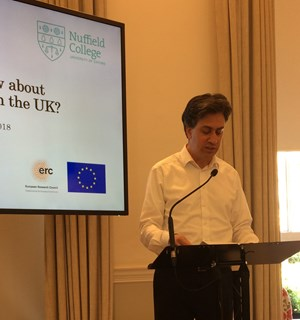 Ed Miliband joins workshop organised by Professorial Fellow Ben Ansell
