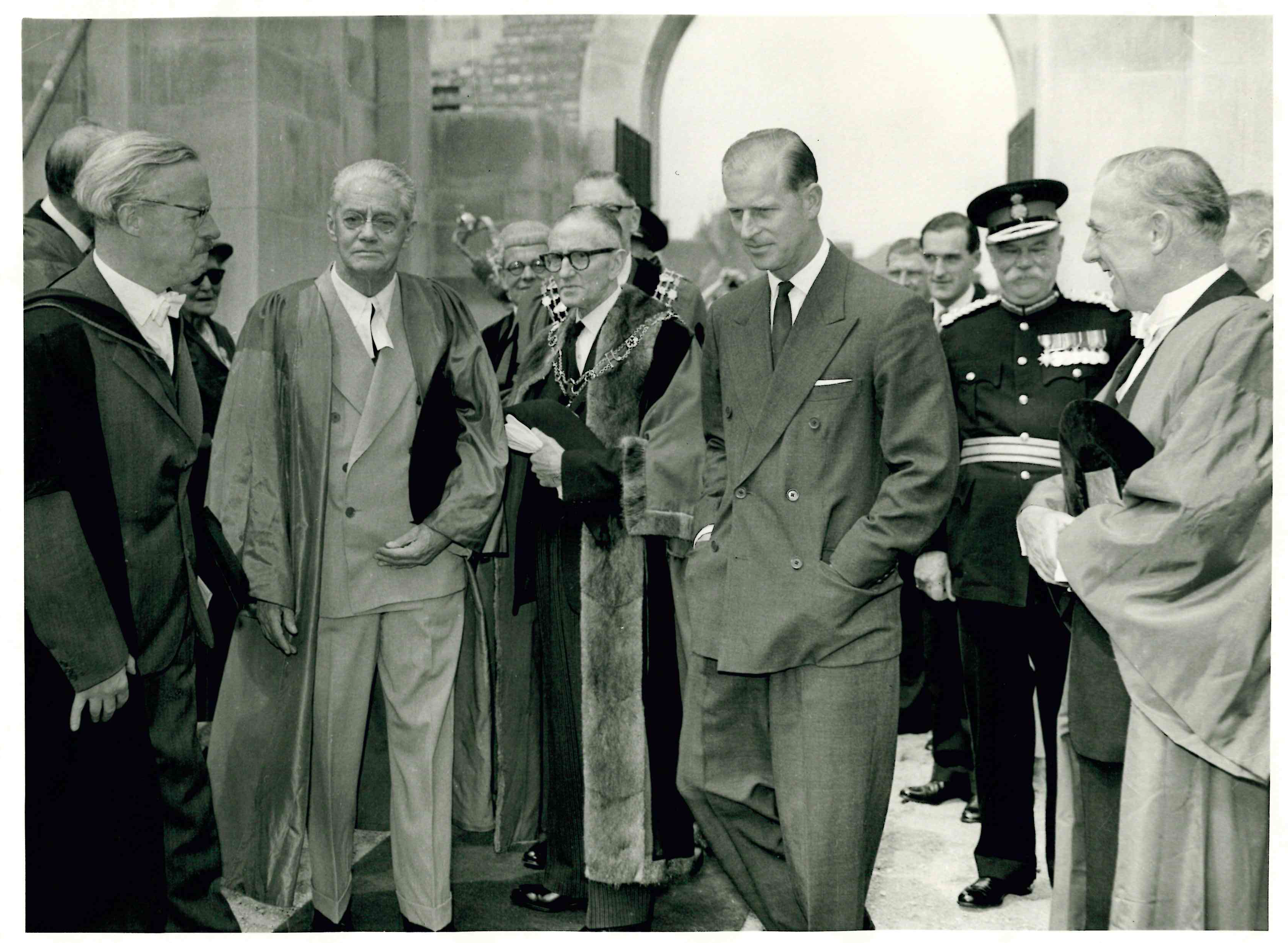 Norman Chester, Lord Nuffield and HRH the Duke of Edinburgh